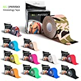 Camo Kinesiology Tape KG | PHYSIO - Uncut Muscle Tape in a 5cm x 5m roll - camouflage (army) colour sports injury tape - (Camo/Army)
