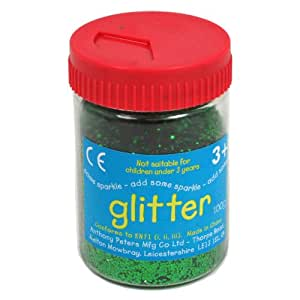 Green Art and Craft Glitter - 100g Tub