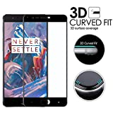 #10: GoRogueTM OnePlus 3T 2.5D Curved Edge-to-Edge Cover Full Body Tempered Glass Screen Protector For OnePlus Three [Onyx Black]