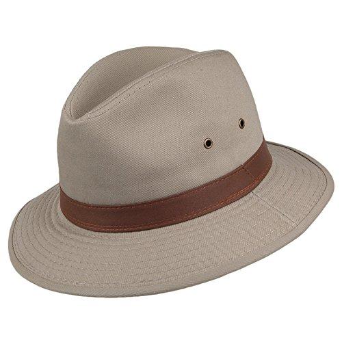 Village Hats Chapeau Safari en Coton Hydrofuge Khaki Dorfman-Pacific