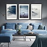 Paintsh skandinavischen Stil Wohnzimmer Interior Design Moderner, minimalistischer Wohnzimmer Sofa Wand Dekorative Malerei Triple Gemälde, 70 * 100, Einen schönen Satz von Wolken 3 Preis
