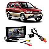 #8: Fabtec Premium Quality 5.0 inch Full Hd Dashboard Screen with LED Night Vision Water Proof Car Rear View Reverse Parking Camera Free for Chevrolet Tavera