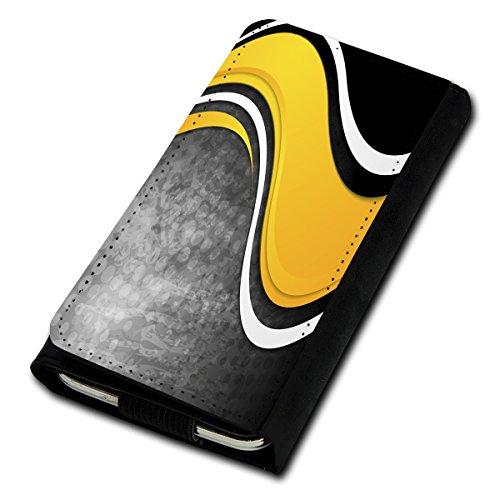 Book Style Flip Handy Tasche Case Schutz Hülle Foto Schale Motiv Etui für Kyocera KC-S701 Torque - Flip U1 Design9