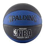 Spalding NBA Varsity Outdoor Rubber Basketball, 63-994T, blau/schwarz, Intermediate Size 6 (28.5