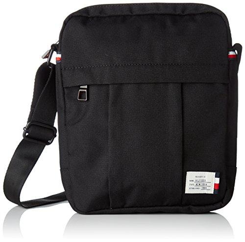 Tommy Hilfiger 2 Tasche (Tommy Hilfiger Herren Tommy Slim Reporter Laptop Tasche, Schwarz (Black), 2x9.8000000000000007x11.5 cm)