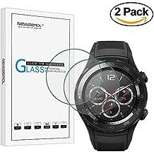 [2Pack] newzerol Protector de pantalla Cristal templado para Huawei reloj 2, 9dureza alta definición anti-scratch [garantía de reemplazo de por vida] -transparent y 2.5d Arc bordes