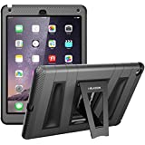 i-Blason Apple iPad Air / iPad 5 ArmorBox 2 Layer Convertible [Hybrid] Full-Body Protection KickStand Case with Built-in Screen Protector for Kids Friendly (iPad Air (5th Generation), Black)