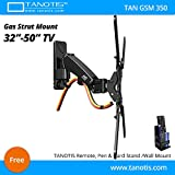Tanotis Imported 6 Way Swivel Tilt 360 Degree Rotate Gas Strut Flexi Mount for LED LCD TV / Montiors 32' to 50' inch VESA upto 400 MM TAN GSS 350 + Free TANOTIS Remote Stand TAN ACC RMS