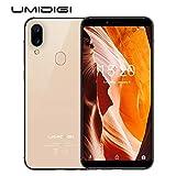 UMIDIGI A3(2018) Dual Sim Android 8.1 Ultra dünn Smartphone ohne Vertrag günstig 5.5 Zoll 18:9 Display, Benachrichtigung LED, Global LTE Bands, Triple Slot, 16GB + 2GB, Triple Kamera(12MP+5M+8MP)-Gold