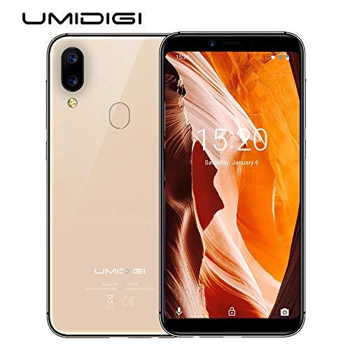 """UMIDIGI A3 (2018) Smartphone Libres, Pantalla 18:9/5.5"""" Android 8.1,Face Unlock,2GB + 16GB, Cámara Trasera de 12MP + 5MP, Procesador Quad-Core MT6739,Dual 4G Volte, Batería 3300mAh."""