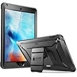 SUPCASE [Heavy Duty] [Unicorn Beetle PRO Series] Full-body Rugged Protective Case Cover for iPad 9.7 inch Built-in Screen Protector & Dual Layer Design (Black/Black)