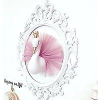 ALIAN Brightcactus,3D Golden Crown Swan,Decoración De La Pared Crown Swan,Cabeza De Animal Decoración De La Pared ,11.81 In,7.87 In