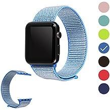Wengerui Cinturino Apple Watch 42mm,Apple Watch Sport Band Strap,Cinturino di Ricambio per iWatch Apple Serie 3,Serie 2,Serie 1 (42mm,Tahoe Blue)