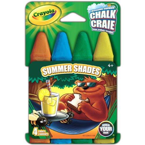 CRAYOLA Chalk 4/pkg-Summer Shades, Summer Shades