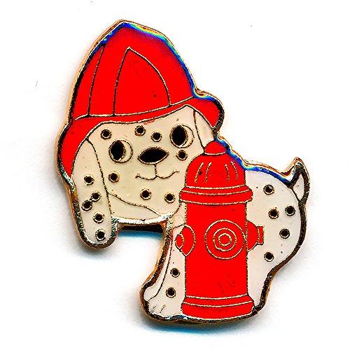 Dalmatiner Feuerwehr Hund Dog USA Fan Metall Button Badge Pin Anstecker 0016 (Hund Patch Usa)