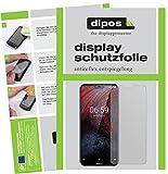 dipos I 2X Schutzfolie matt passend für Nokia 6.1 Plus Folie Bildschirmschutzfolie