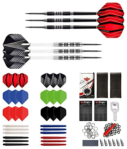 Red Dragon Ultimate Darts Collection Piece Darts Set with Flights, Shafts & Red Dragon Checkout Card