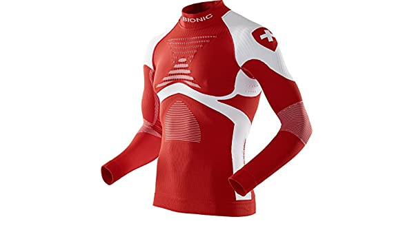 Intimo Uomo X-Bionic Patriot Acc/_Evo UW Shirt LG/_LS.Turtle Neck Switzerland XXL