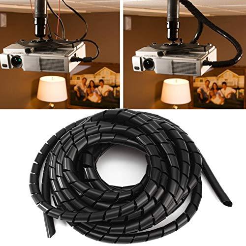 ChaRLes 6M Tidy Wire Pc Tv Organisation Verpackung Kabel Abdeckung Spiral Office Tube Verwalten Kabel -