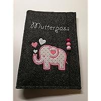 Mutterpasshülle, Mutterpass Elefant rosa
