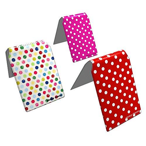 Stray Decor (Polka Dots) 3x Buspass/ Fahrkartenhalter im Brieftaschenformat, IsarCard, fahrCard, RMV Clevercard, Kolibricard oder Karteninhaber auf Reisen Kombi (Seite 2 Id-card-inhaber)