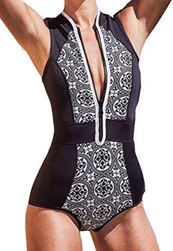 c0dd5e0ea81 Monokini Mujer Push-up con Cuello en V con Relleno Acolchado Traje de Baño  de