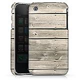 DeinDesign Apple iPhone 3Gs Coque Étui Housse Lamelles de Bois Grises