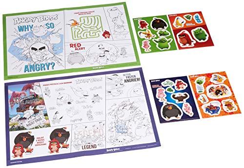 Interdruk Zeskremeabm Mega Creative Lot de A2avec Stickers muraux Angry Birds Movie, Multicolore