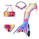 COZY HUT 2019 Fun-Bademode - Meerjungfrauen Schwimmanzug Bikinis Badeanzüge für Mädchen,3-12 Jahre alt