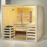 Infraworld–Cabina de Sauna Opal Element tamaño 210x 210cm en abeto
