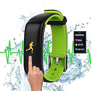 Smartwatch Bracelet  Sport Schrittzahler Fitness Aktivitats Schlaftracker Armbanduhr Fernbedienung für  Android Smart Phone iPhone Push Message Anrufer  Benachrichtigung