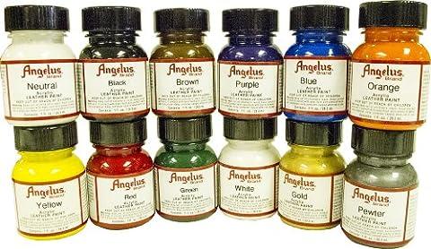 Angelus Original Leather Paint Starter Kit 12 Pack