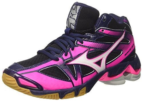 Mizuno Wave Bolt Mid WOS, Scarpe da pallavolo Donna, Multicolore (Black/White/Peacoat), 38 EU