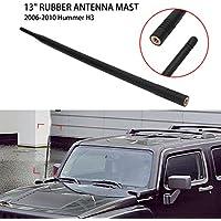Antena de coche de 13 pulgadas AM FM Radio señal recepción mástil negro de repuesto para H3 2006 - 2010