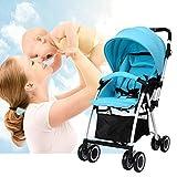 Tomasa Kombikinderwagen Kinderwagen Baby 3 in 1 Kinderkraft für Baby mit Fashion UV Sonnensegel Babyschale, Babywanne, Sportwagen und Zubehör Blau