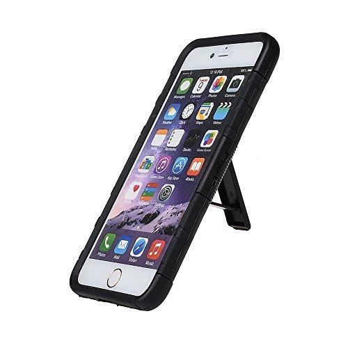"""Hülle für iPhone 6 6s, xhorizon FM8 [Multifunktion] Kickstand Holster mit Schwenkergurtclip Heavy Duty Robuste Schutz Doppelschicht Rüstung Rücken & VordernHülle für Apple iPhone 6 6S [4.7""""] (Rot) Schwarz"""