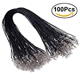 ULTNICE 100PCS encerado cadena de la cera del cordón del collar con el corchete para la joyería...