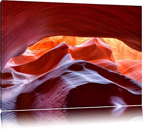 Antelope Canyon Arizona Format: 120x80 auf Leinwand, XXL riesige Bilder fertig gerahmt mit Keilrahmen, Kunstdruck auf Wandbild mit Rahmen, günstiger als Gemälde oder Ölbild, kein Poster oder Plakat -