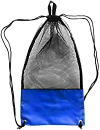 Prettyia Heavy Duty Mesh Drawstring Bag for Scuba Gear Diving Fins Snorkel  Goggles b2695ef7bd3b6