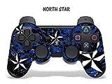 Schutzfolie für Playstation 3 Controller- Northstar blau