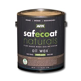 Afm Safecoat Naturals Oil Wax Finish, Clear Gallon Can 1/Case by AFM Safecoat