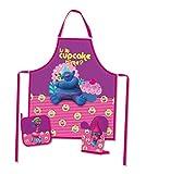 Trolls 3 teiliges Küchen-Set Schürzen-Set für Kinder im Geschenkkarton