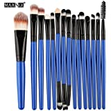 Voberry Makeup Rushes Make Up Brushes Professional Eye Shadow Foundation Eyebrow Lip Brush Makeup Brushes 15 Pcs...