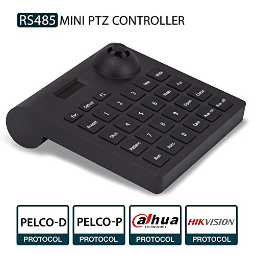 PTZ-Tastatur, LEFTEK Analog Kamera RS485-Controller Mini PTZ-Joystick mit LCD-Display-Menü - Dvr Ptz Mit