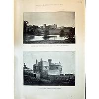 Una Stampa Antica del Castello 1897 di Alnwick Northumberland Pendennis Falmouth (Castello Pendennis)