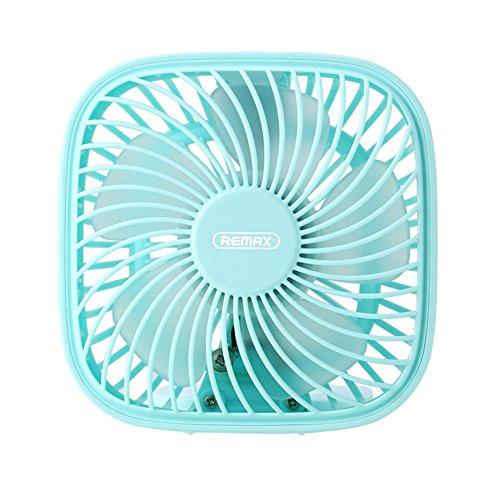 Yunyoud_casa ventilatore usb personale piccolo – mini ventilatore da tavolo con turbo a doppia elica e tecnologia a ciclone silenzioso per la circolazione dell'aria - per casa, ufficio e viaggi (blu)