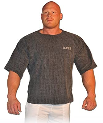 Profi-Gym-Shirt S8-1 - Farbe: dunkelgrau / Bodybuilding Shirt, Fitness T-Shirt - Ideal f. Workout im Fitness-Studio
