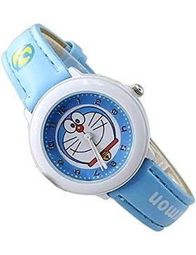 Doraemon children kids cartoon Watches leather Watch WP@KTWDD002L