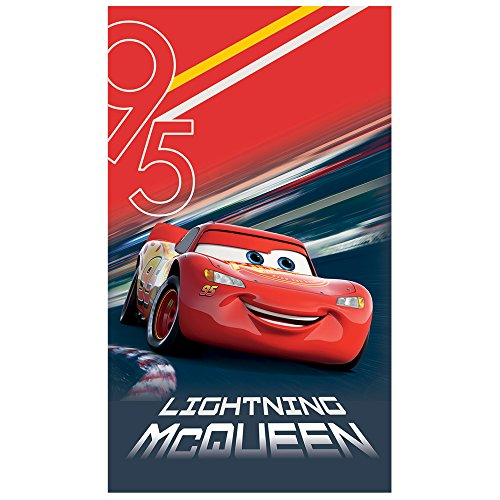 Disney telo mare cars, cotone, rosso, 120x 70cm