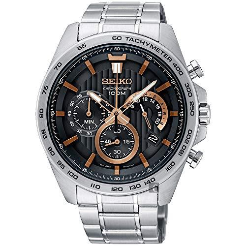 Seiko Orologio Cronografo Quarzo Uomo con Cinturino in Acciaio Inox SSB307P1
